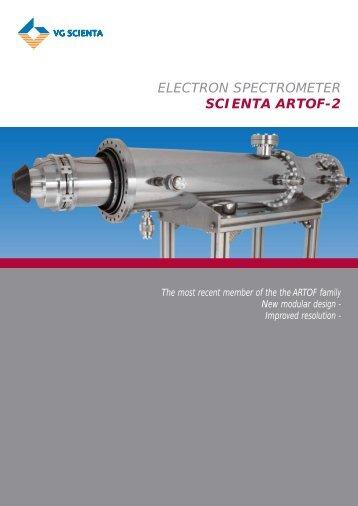 ELECTRON SPECTROMETER SCIENTA ARTOF-2 - VG Scienta