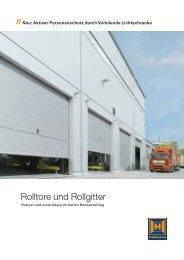 Rolltore und Rollgitter - Meierhofer Garagentore | Torantriebe