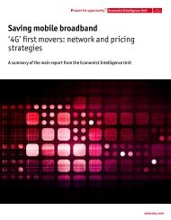 Saving mobile broadband '4G' first movers: network and pricing ...