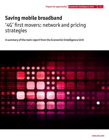 pricing strategies for mobile broadband Pricing mobile data: market opportunities to 2018 resources  mobile data pricing strategies,  lines resulting from fixed-to-mobile substitution and the increase of broadband .