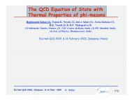 The QCD Equation of State with Thermal Properties of phi-mesons