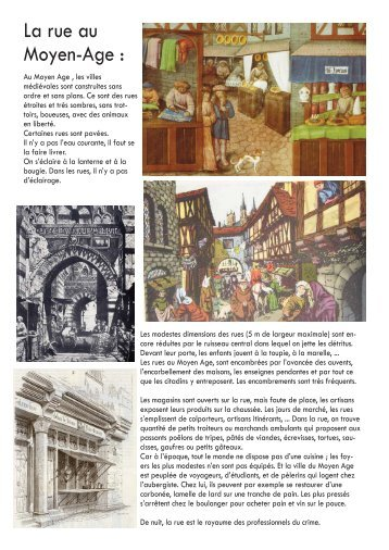La rue au Moyen-Age : - WebLettres