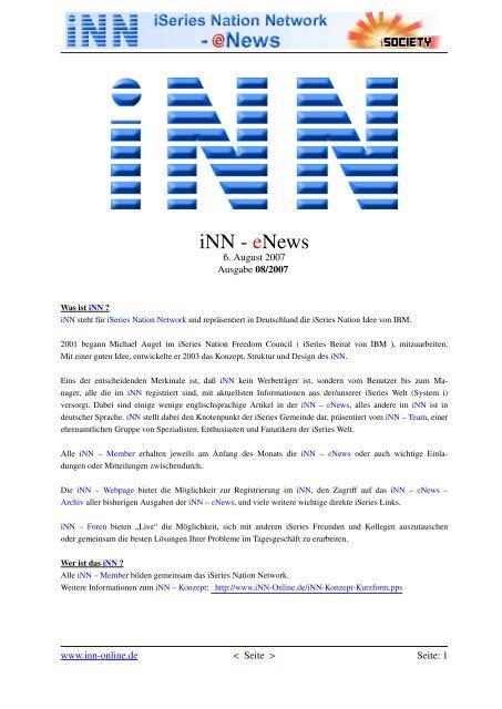 iNN - eNews - SSS-Software