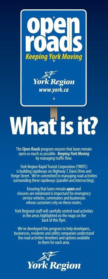 Open Roads - York Region