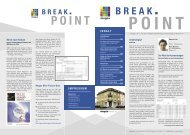IMPRESSUM BREAK POINT - Megos AG