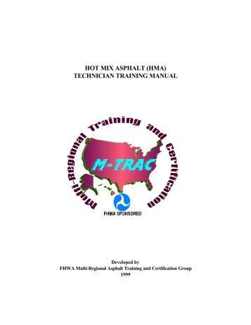 hot mix asphalt (hma) technician training manual - Federal Highway ...