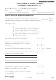 Personalfragebogen bei Kündigung