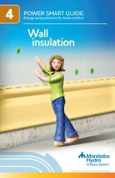 Power Smart Guide: Wall insulation - Manitoba Hydro