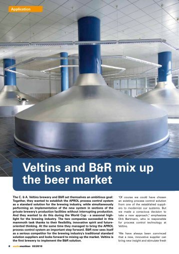 Veltins and B&R mix up the beer market - automotion
