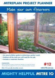 12. Make your own flyscreen - Mitre 10