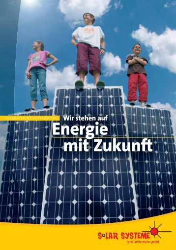 Firmenbroschüre - Solarsysteme Josef Mittermeier