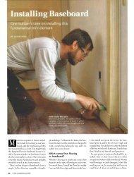 Installing Baseboard - Fine Homebuilding