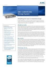 H4097.5 CLARiiON AX4 data sheet - EMC