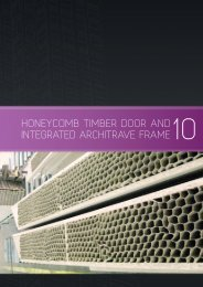 honeycomb timber door and integrated architrave frame