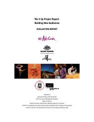 Mix It Up Project Report: Building New Audiences - Multicultural Arts ...