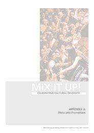 Mix It Up 2009 Report Appendix - Multicultural Arts Victoria