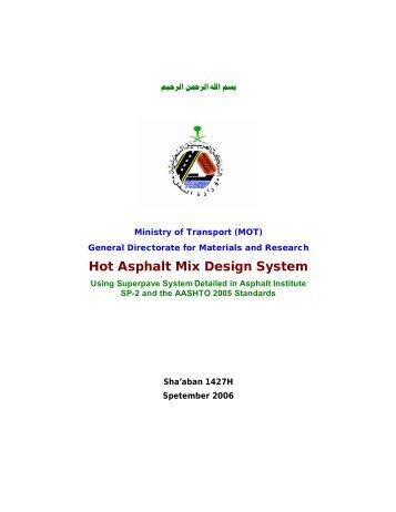 Hot Asphalt Mix Design System