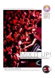 Mix It Up 2009 Report - Multicultural Arts Victoria
