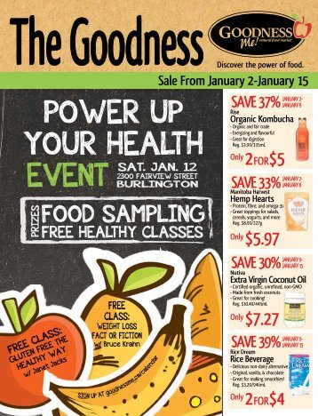 POWER UP YOUR HEALTH - Goodness Me!