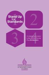 Stand Up for Standards - College & Association of Registered ...