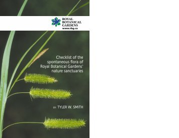 Download a PDF of the updated Checklist of - Royal Botanical ...