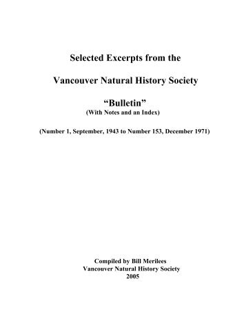 PLease click here for a PDF copy - Nature Vancouver