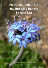 Plants and Wildlife of the Brisbane Ranges Species List - Vicnet