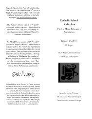Rochelle School of the Arts - Florida Music Educators Association ...