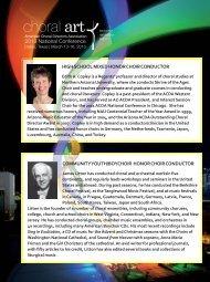 national honor choir conductors - American Choral Directors ...