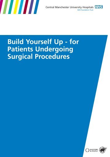 Building yourself up - for patients undergoing surgical procedures