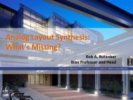 Analog Layout Synthesis: What's Missing? - ISPD