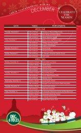 date times performers week one week two - Legislative Assembly of ...