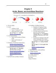 Chapter 5 Acids, Bases, and Acid-Base Reactions - An Introduction ...