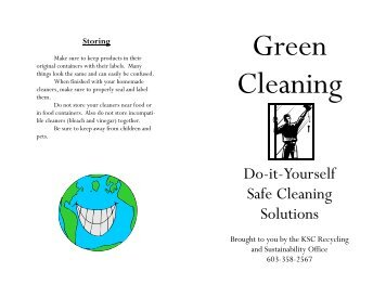 Green Cleaning: Do-It-Yourself