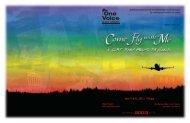 June 15 & 16, 2012 r 7:30 pm - One Voice Mixed Chorus