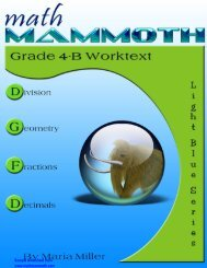 Grade 4-B contents & samples - Math Mammoth