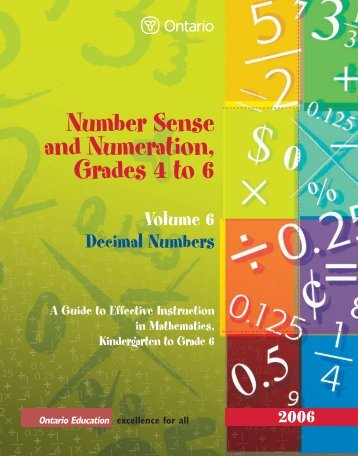 Number Sense and Numeration, Grades 4 to 6 - eWorkshop