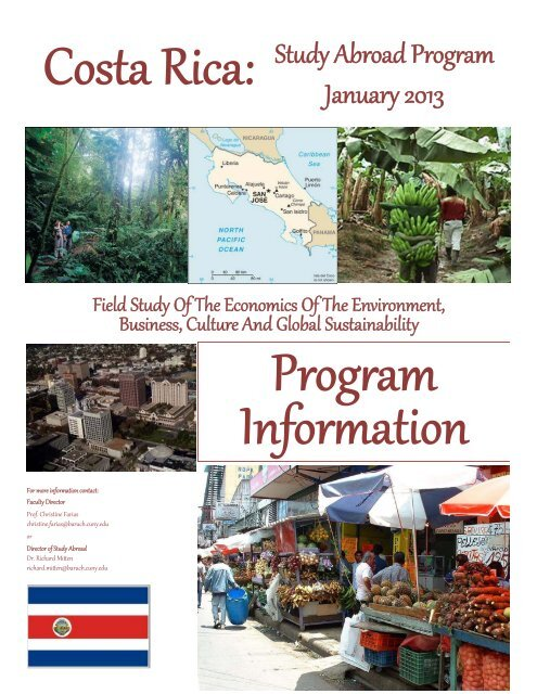 Costa Rica The Economics of Global Sustainability January
