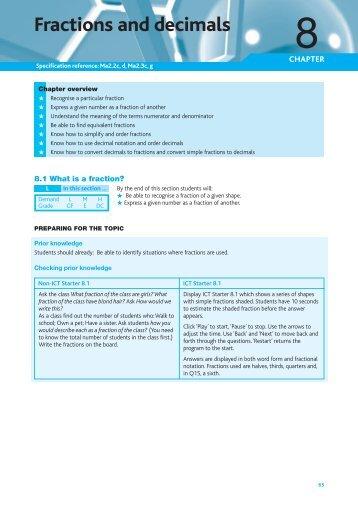 Fractions and decimals - Pearson Schools