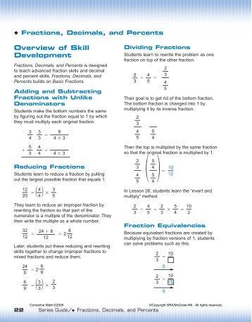 Fractions, Decimals, Percents - McGraw-Hill Australia