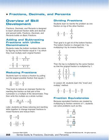 Fractions, Decimals, Percents - McGraw-Hill Australia