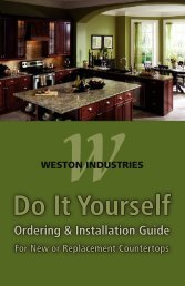 Do It Yourself Do It Yourself - Weston Industries Inc.