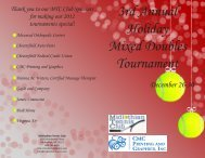 3rd Annual Holiday Mixed Doubles Tournament - Richmond Tennis ...