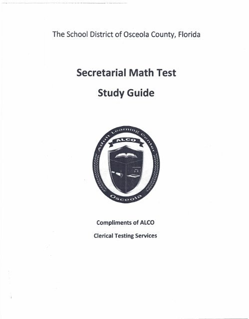Clerical study guide & sample test questions version 2 la. Ca. Us.