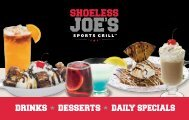 DRINKS DESSERTS DAILY SPECIALS - Shoeless Joe's