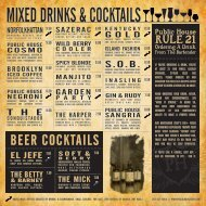 BEER COCKTAILS - The Public House
