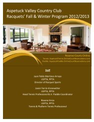 to download the 2012/2013 Platform - Aspetuck Valley Country Club