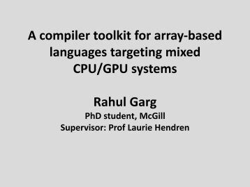 Compiling array-based languages to mixed CPU/GPU systems ...