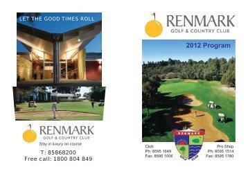 16967-Renmark Golf Club Program 2012.indd