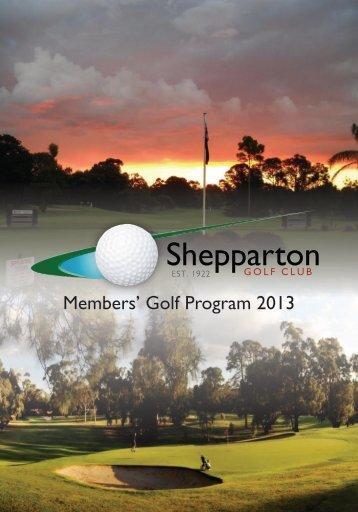 2013 Syllabus PDF - Shepparton Golf Club